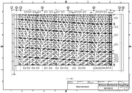 Perforated cladding panels assembly drawing for installation
