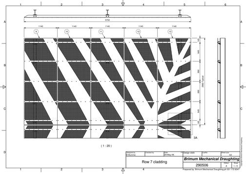 Perforated cladding panel concept drawing for client approval