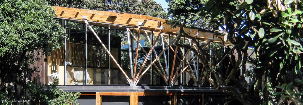 Photo of stainless steel roof truss supports